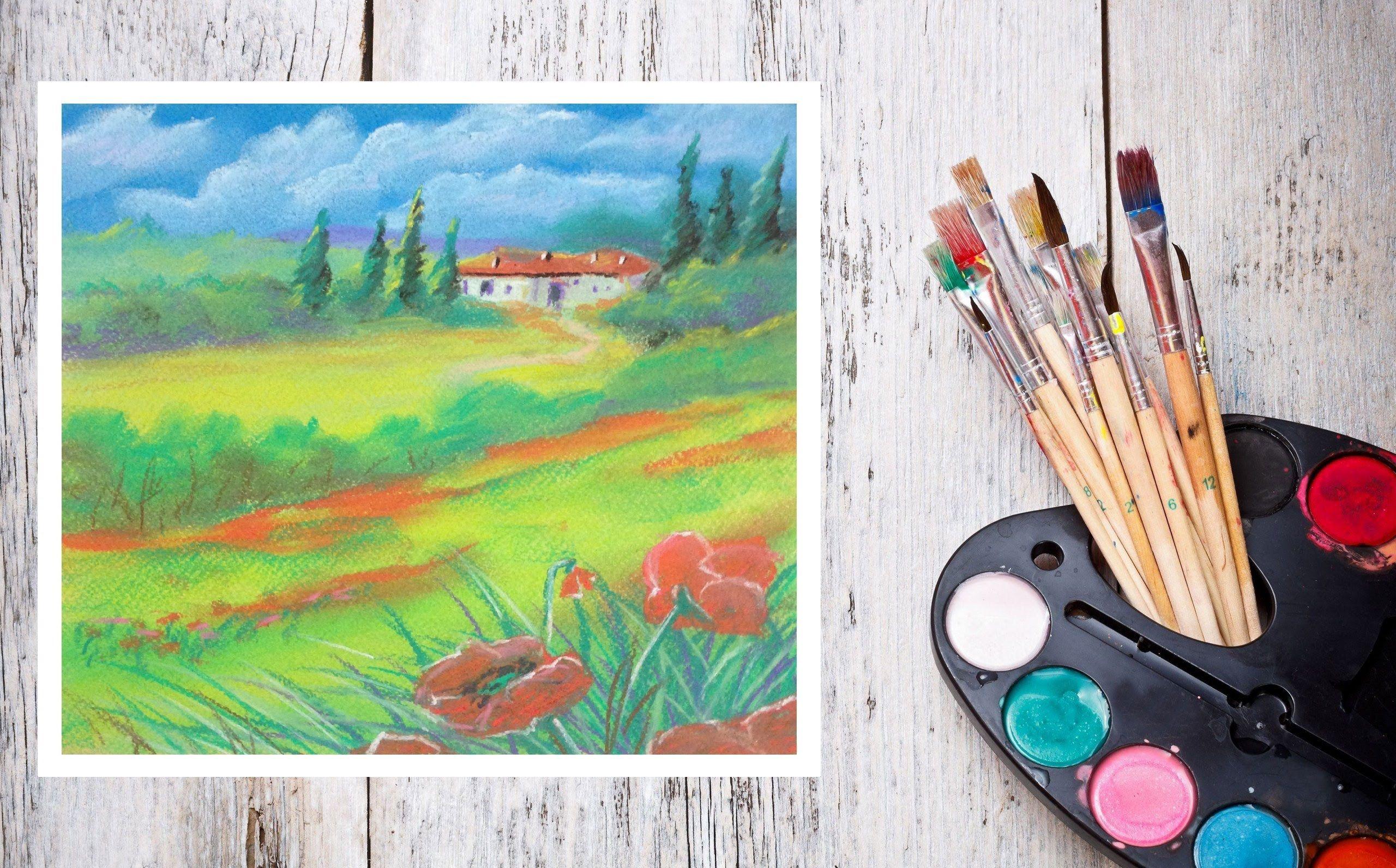 Поздравления просто, нарисовать картинку красками за 5 минут