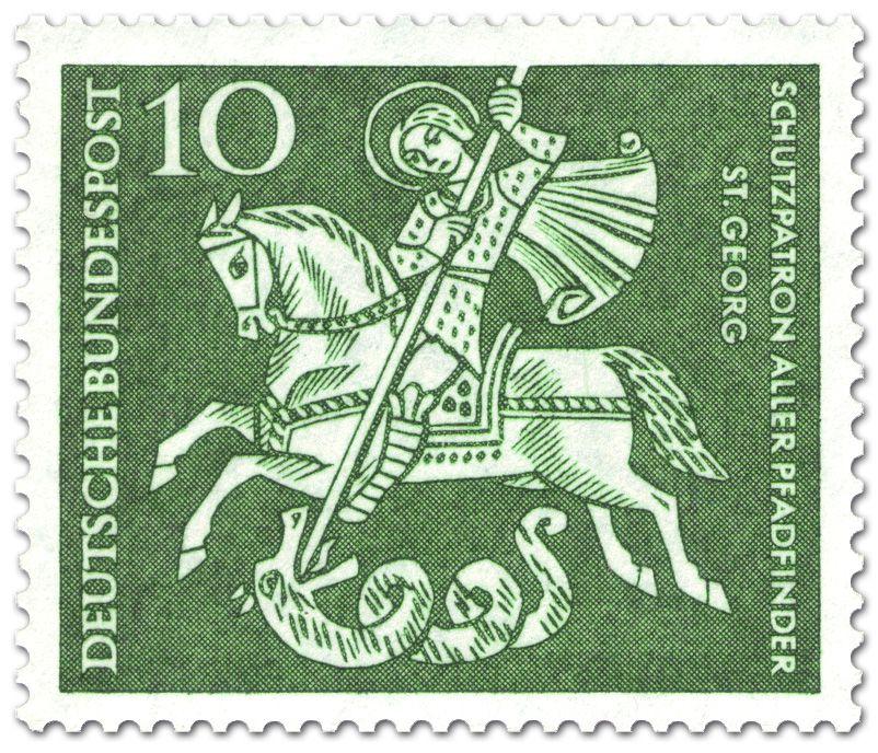 ALEMANIA 1961 San Jorge y el dragón