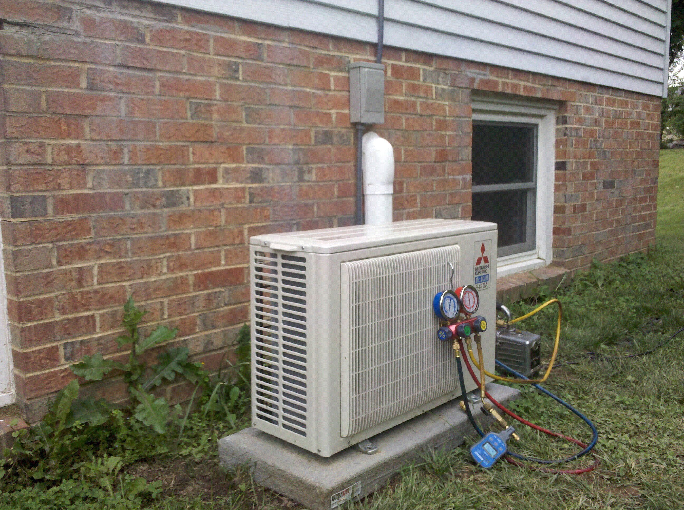 Handyside Inc Installation Of A Mitsubishi Ductless Unit Air