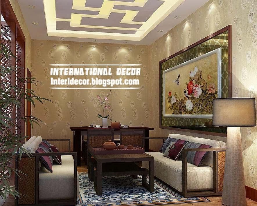 False ceiling pop designs with LED ceiling lighting ideas 2015