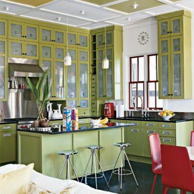 je ne suis pas toute seule aimer les cuisines vertes cuisine pinterest maison armoire. Black Bedroom Furniture Sets. Home Design Ideas