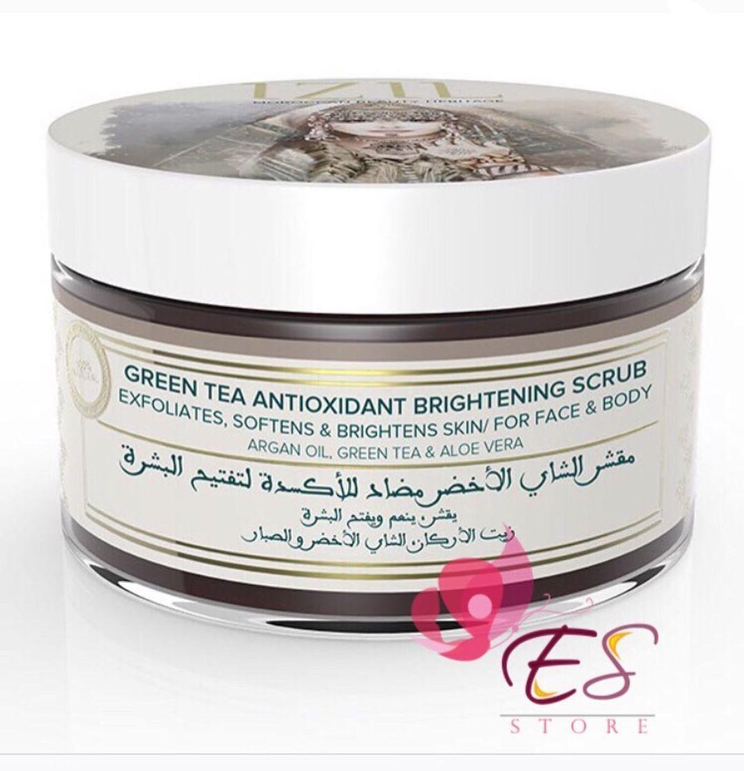 I I I سنفرة الشاي الاخضر من ايزيل بيوتي 16ro لفتره محدوده I Oman Oman Meckup Instagram منتجات عنايه ميكب كنتور ت Skin Brightening Antioxidants Aloe