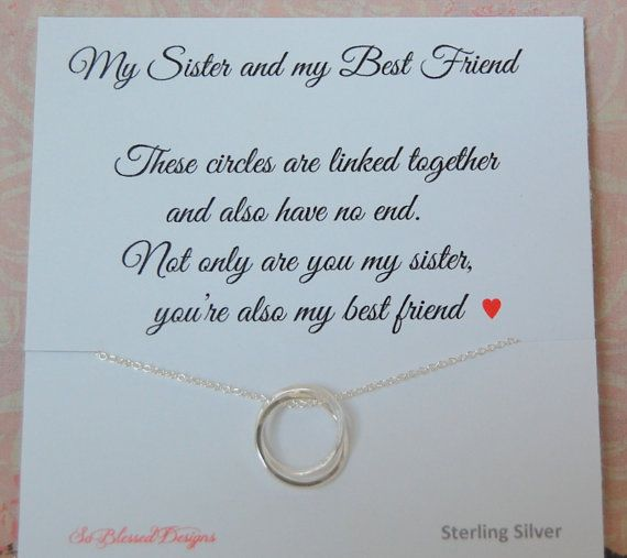 SISTER Necklace Maid Of Honor Birthday Gift By SoBlessedDesigns