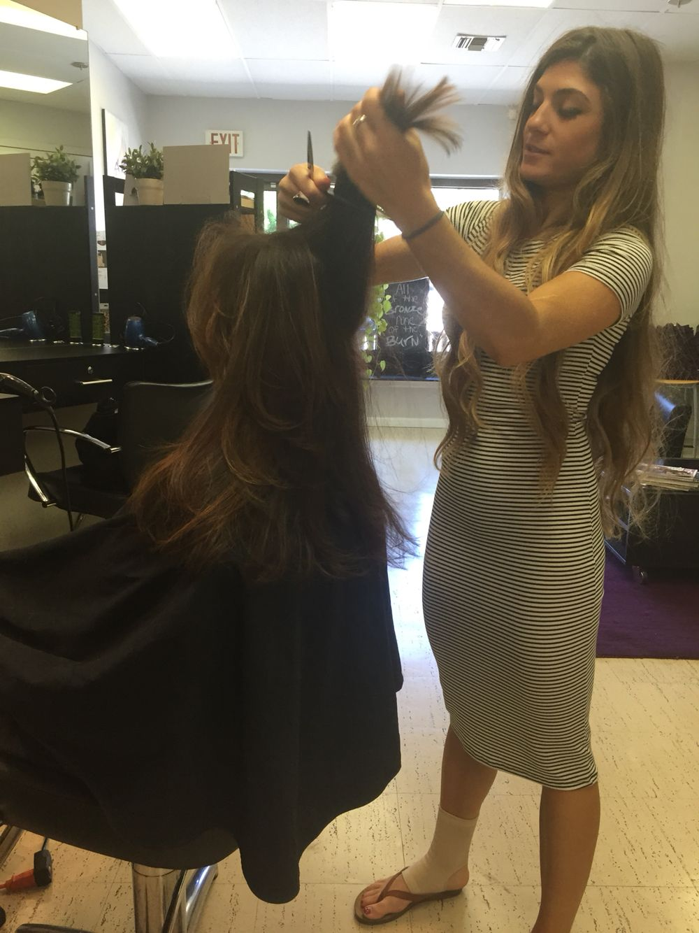 Jessica One Of Our Lovely Stylist At Salon Rosa M Cuttinghair