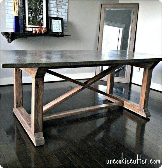 Diy Concrete Dining Table Decor Pinterest Table Concrete