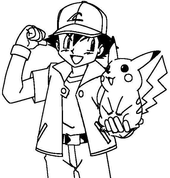 Coloring pages pokemon ash