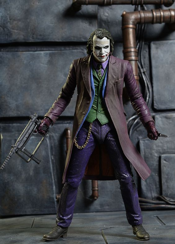 Joker Heath Ledger The Dark Knight 5 PCS Action Figure Gift Doll Statue Toys US