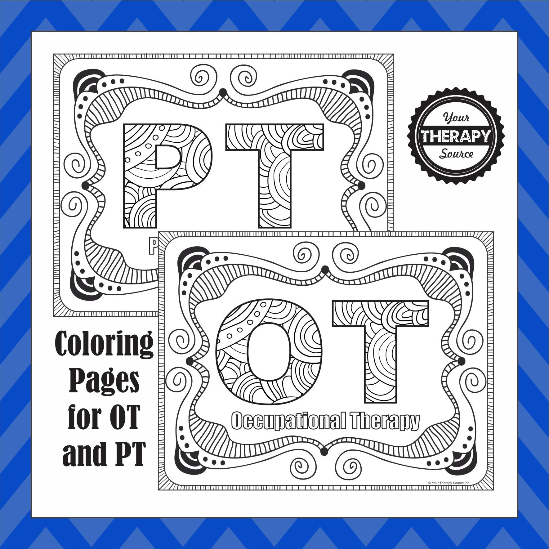 with intricate coloring sheets being super popular right now i thought i would create a few for occupational and physical therapy - Simple Therapeutic Coloring Pages