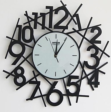 This Large Masterpiece Captures The Chaos We All Experience In Our Daily Lives This Is A Great Centerpiece And Cast In A Very Mod Wall Clock Clock Number Wall