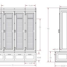 Mudroom Locker Dimensions