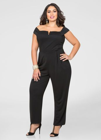 931ccaff888 ... Ashley Stewart. V Hardware JumpsuitClassic Jumpsuit. V Hardware  Jumpsuit V Hardware Jumpsuit Plus Size Cocktail Dresses