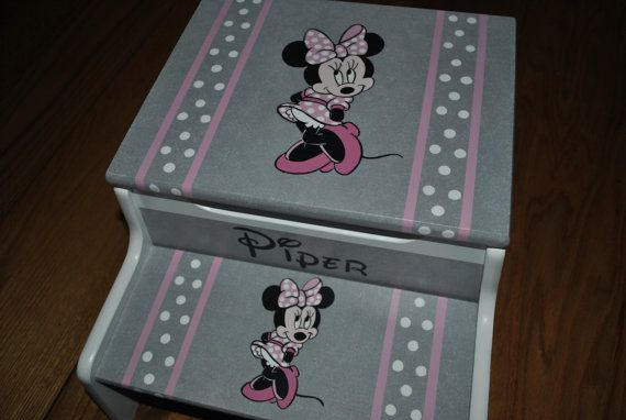 Minnie Mouse Stoel : Kids step stool minnie mouse girls step stool baby shower