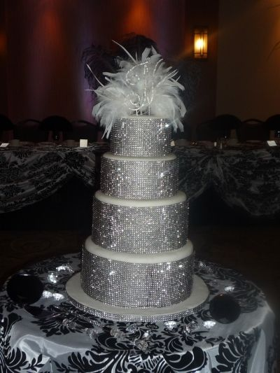 Bling out a wedding Cake... someone give me my sun glasses   Angie\'s ...