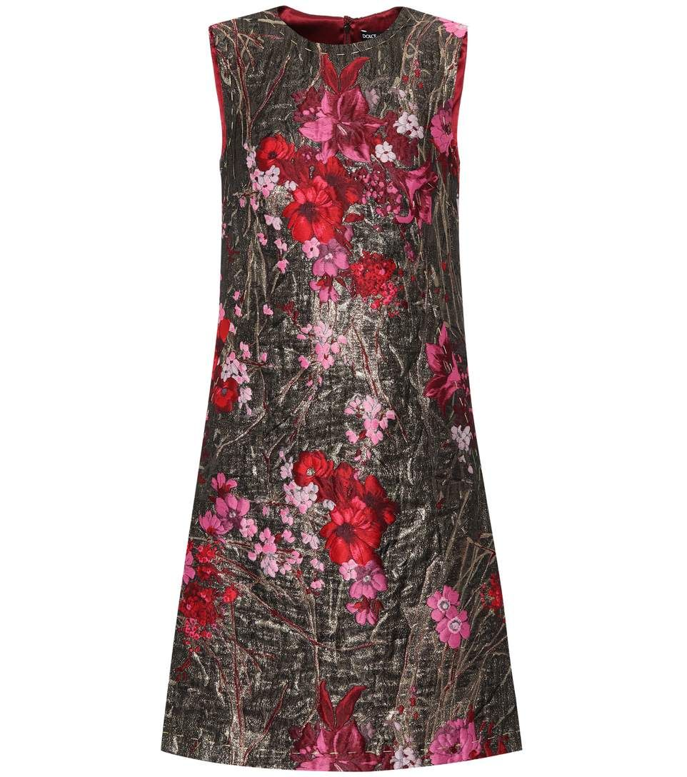 Dolce u gabbana sleeveless jacquard dress dresses pinterest