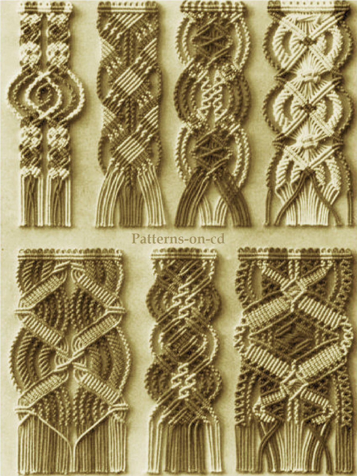 Vintage Instruction MACRAME bracelet beads cord weaving Patterns on CD in Crafts, Beads & Jewellery Making, Books & Magazines | eBay