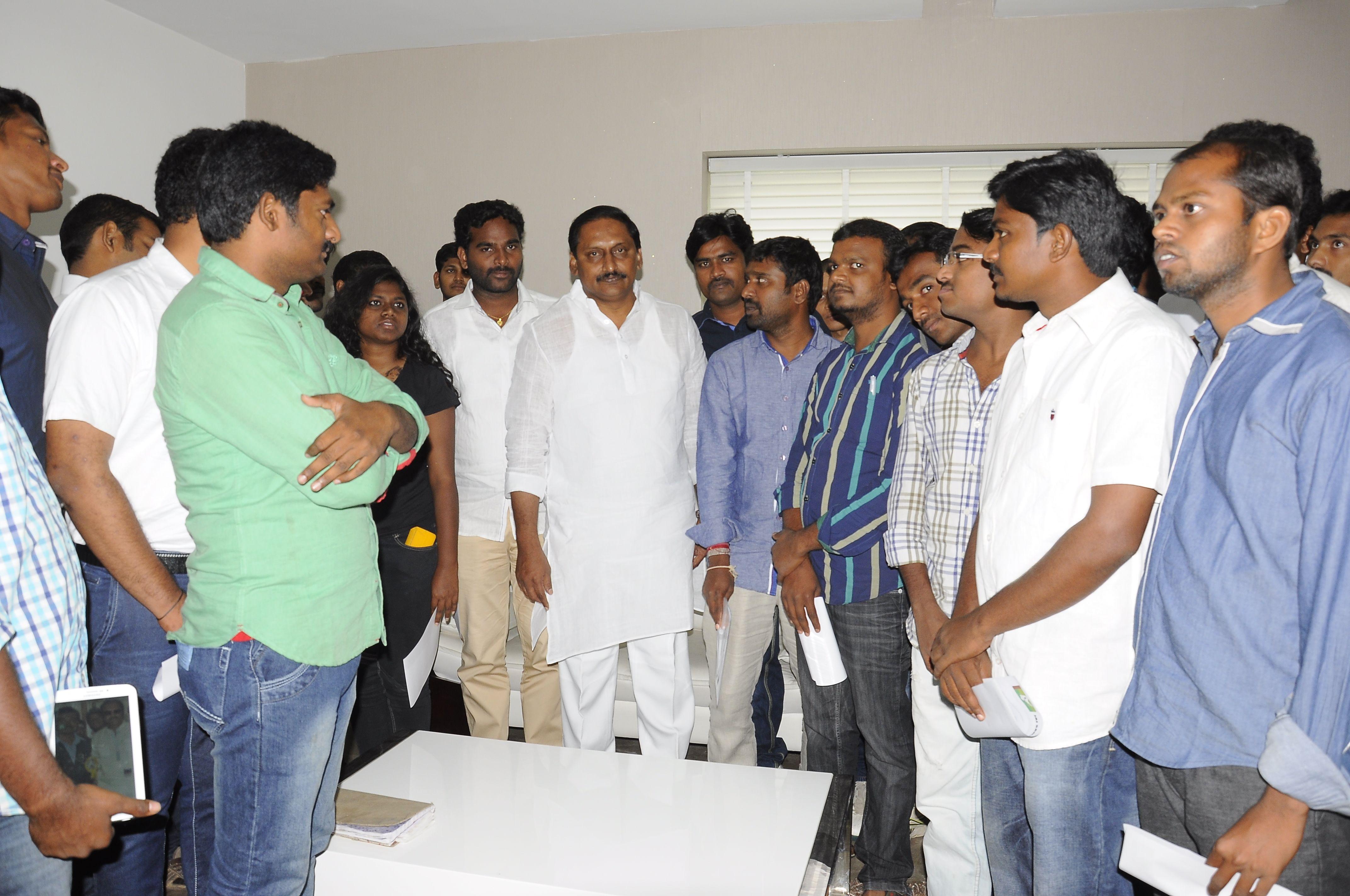 Kiran Kumar Reddy and Students