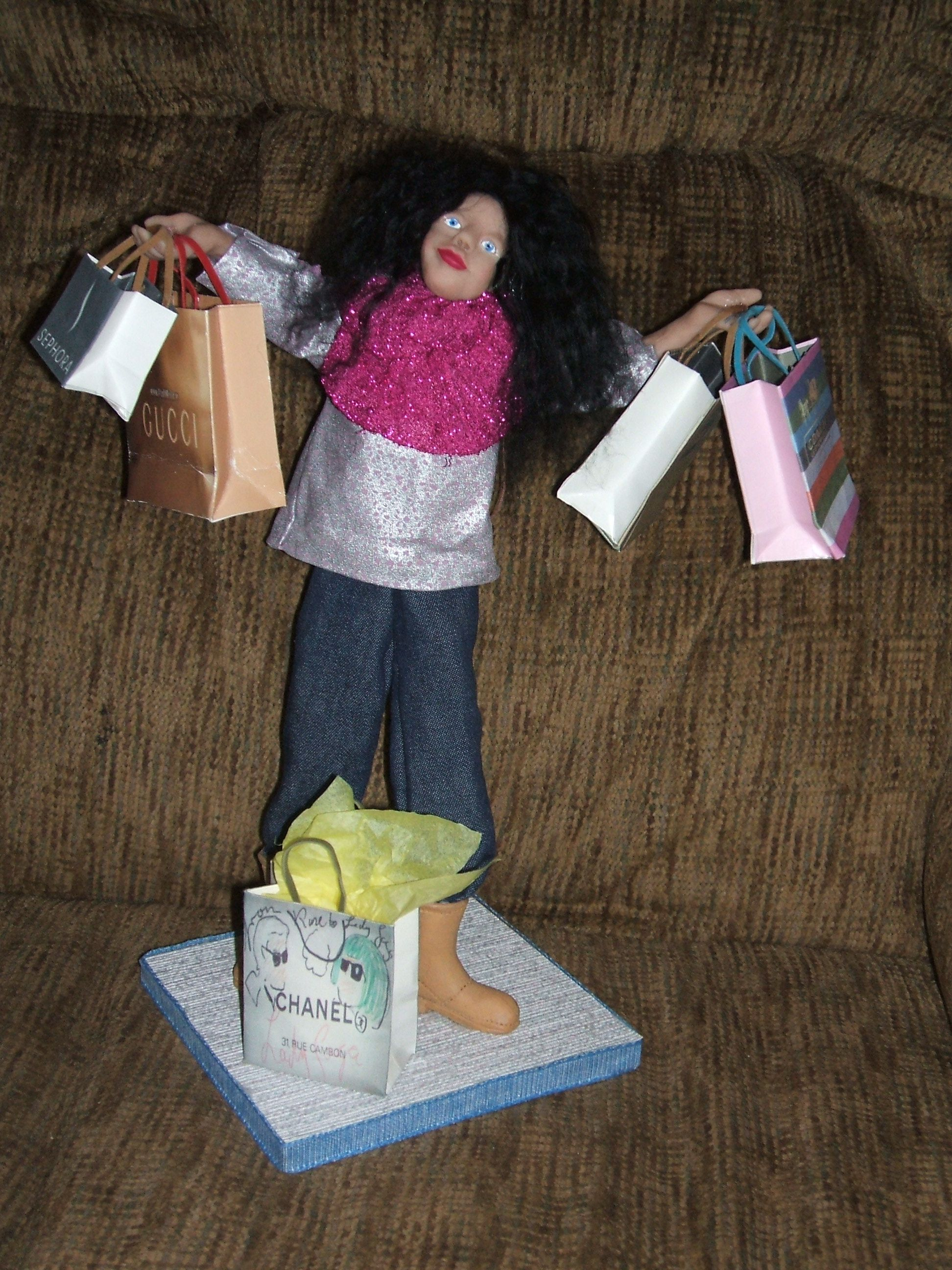 Girls just want to have fun.  Polymer clay doll