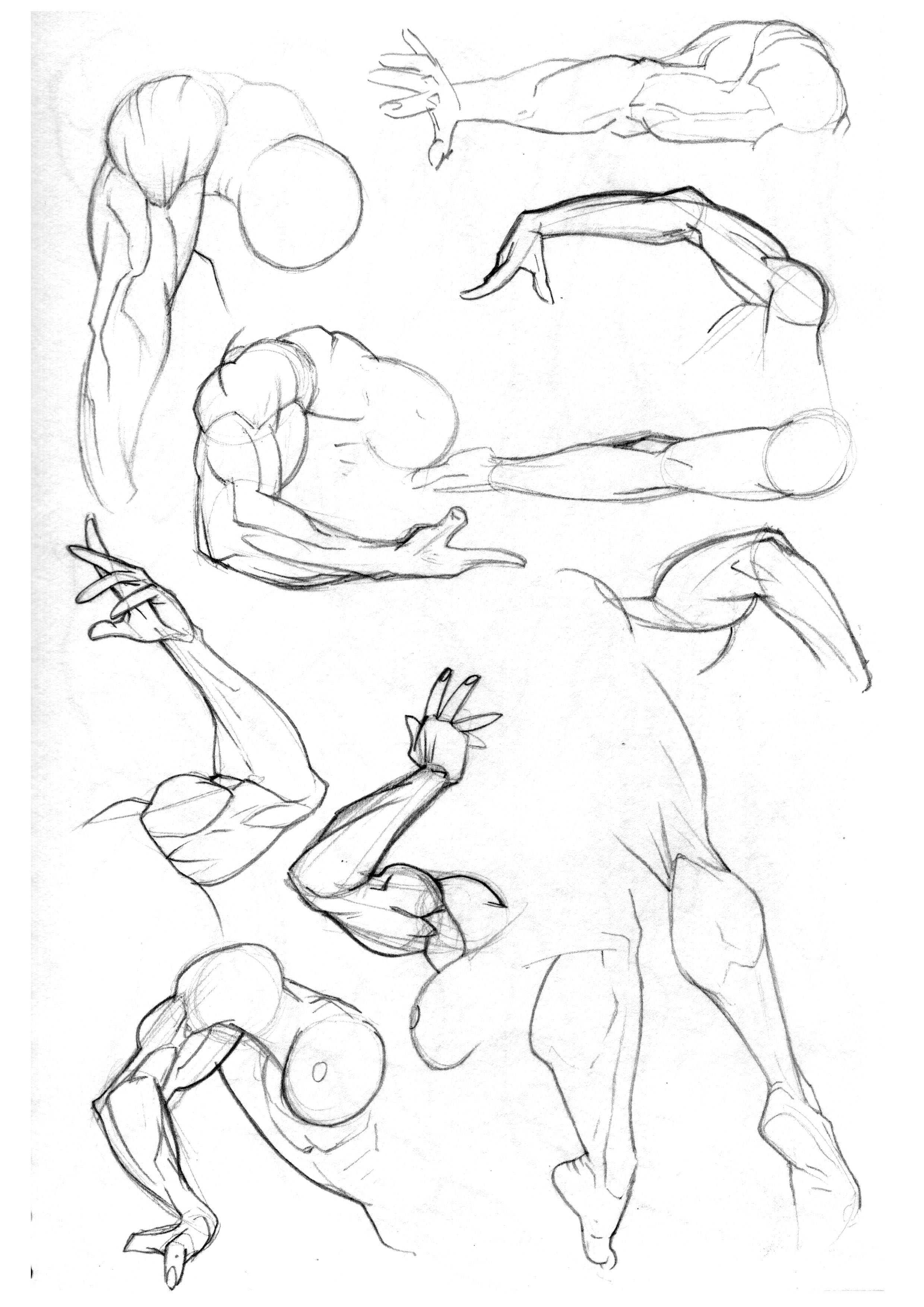 One from the early days. Practicing arms and legs and the way they ...