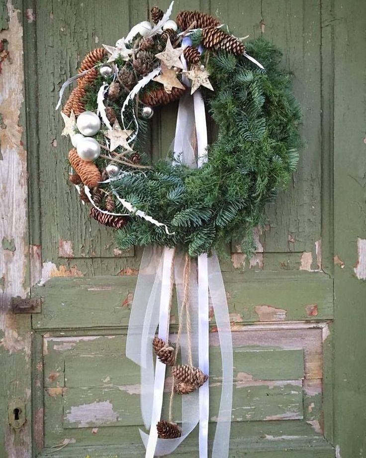 Türkranz zu Weihnachten basteln - 30 Ideen und Anleitungen #kerstbloemstukken