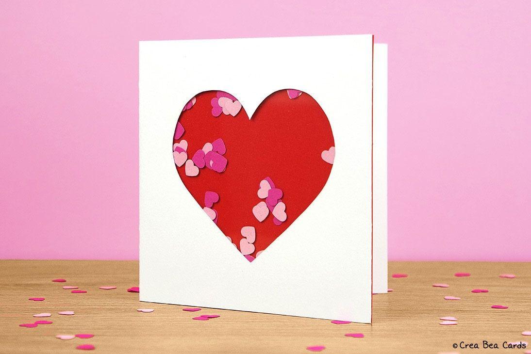 Heart Shaker Card Tutorials Cardmaking And Scissors