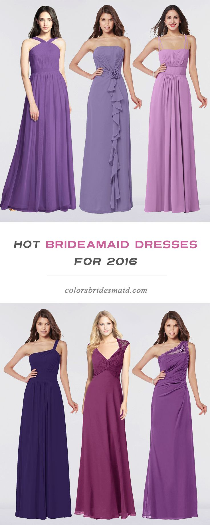 Tired Of The Same Color For Bridesmaid Dresses? Do you wanna try ...