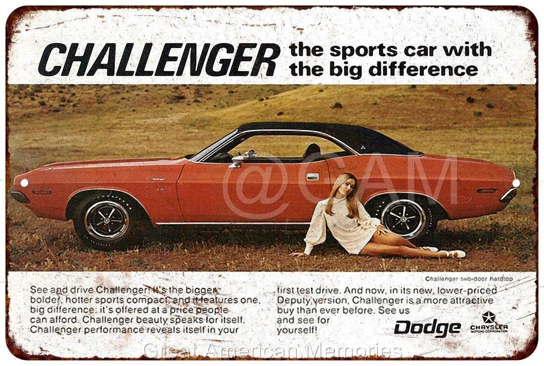 Metal Sign 1970 Dodge Challenger Vintage Look Reproduction