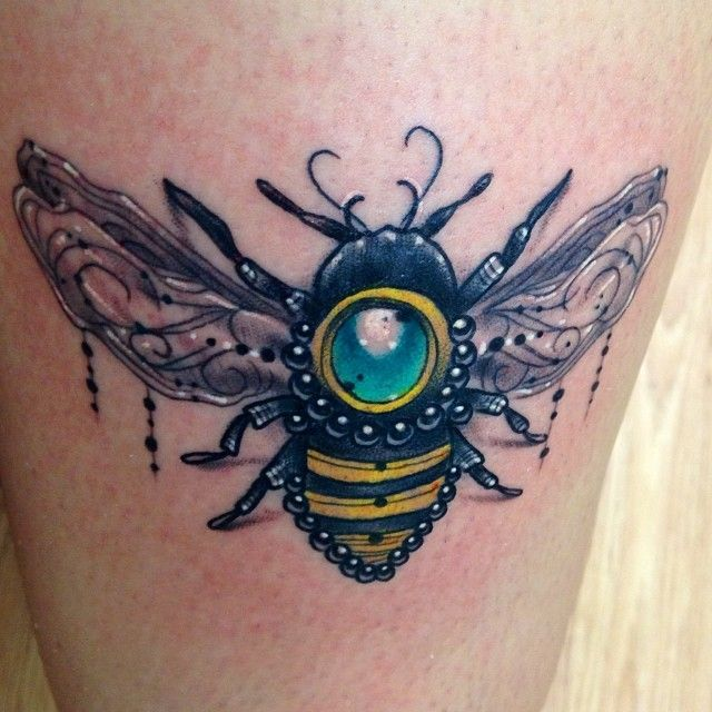 jeweled bee done by austin jones at ironclad tattoo in salt lake ...