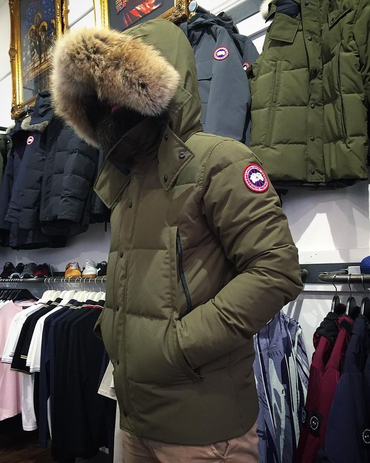 5d51f6905b5 Now available online as well as in store - the military green 'Wyndham'  parka from @canadagoose priced 800. Head over to the website to see our  current AW17 ...