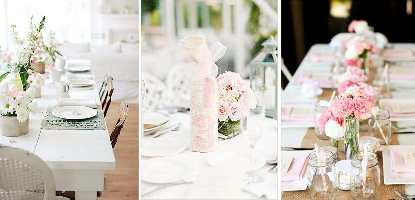 Rosas y blancos para decorar la mesa esta Primavera - http://www.decoora.com/rosas-y-blancos-para-decorar-la-mesa-esta-primavera.html