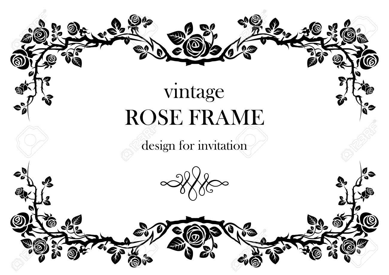Rose Vintage Frame Vintage Frames Vector Vintage Frames Rose Frame