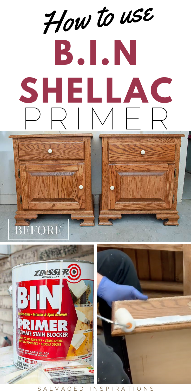 How To Use BIN Shellac Primer| Step By Step Instructions on How To use BIN Shellac Primer | Salvaged Inspirations  #siblog #salvagedinspirations #paintedfurniture #furniturepainting #DIYfurniture #furniturepaintingtutorials #howto #furnitureartist #furnitureflip #salvagedfurniture #furnituremakeover #beforeandafterfurnuture #paintedfurnituredieas #dixiebellepaint #redesignwithprima