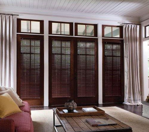 Levolor 1 Inch Wood Blinds Blinds Americanblinds Com Wood Blinds Home French Doors Interior