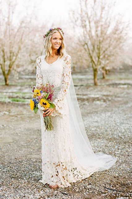 Stunning Long Sleeve Wedding Dresses for Fall Wedding
