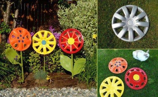 Gartenideen Mit Alten Sachen Autofelgen Bemalen Blumen | Garten ... Gartendeko Aus Alten Sachen Ideen