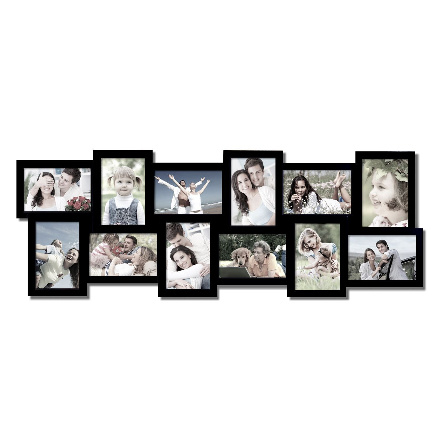 Adeco 12 Opening Collage Picture Frame Pf0198 Collage Picture Frames Wooden Wall Hangings Picture Collage