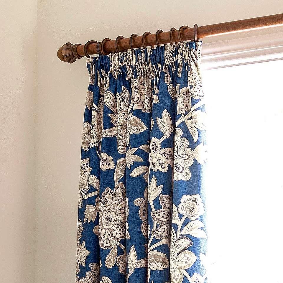 Dorma Samira Blue 100% Cotton Duvet Cover | Pleated ...