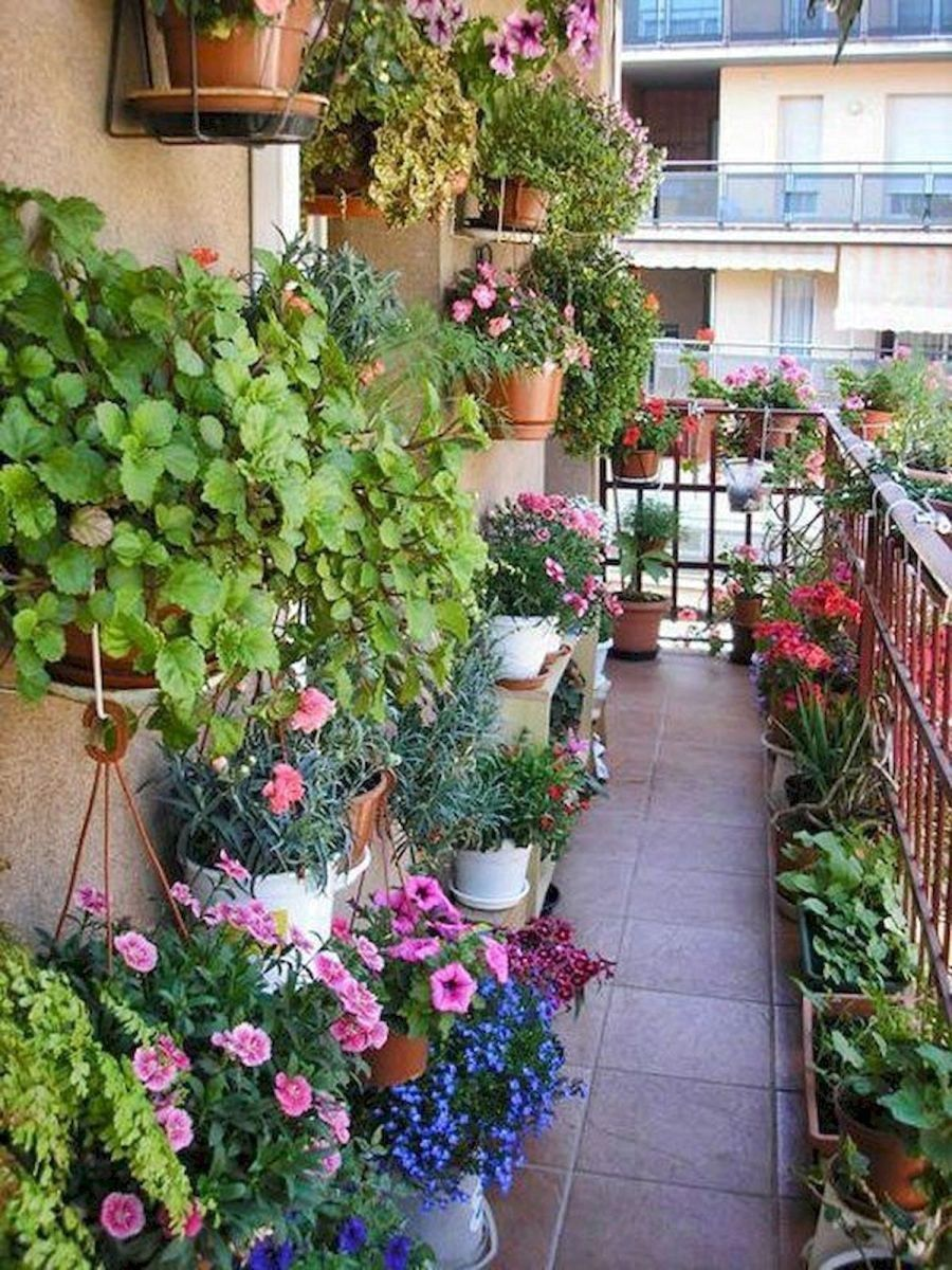 50 Beautiful Flower Garden Design Ideas Small Balcony Garden