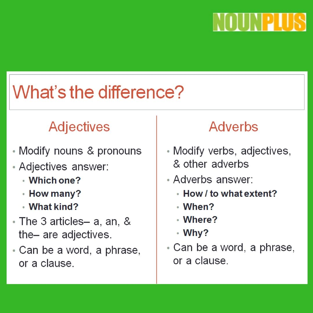 What Is The Difference Between An Adjective And An Adverb