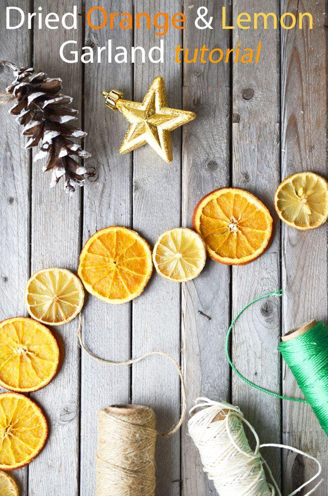 Dried Orange Lemon Garland Tutorial Cute Diy Christmas