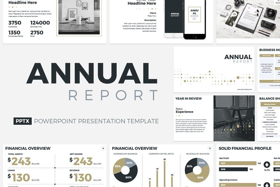 Annual Report Powerpoint Template Annual Report Keynote