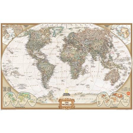 National Geographic World Map Dry Erase Map Decal WallPops - Vintage world map decal