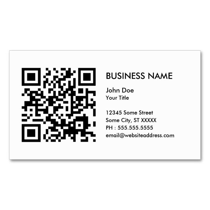 Design Your Own Qr Code Business Card Zazzle Com Qr Code Business Card Business Card Template Customizable Business Cards