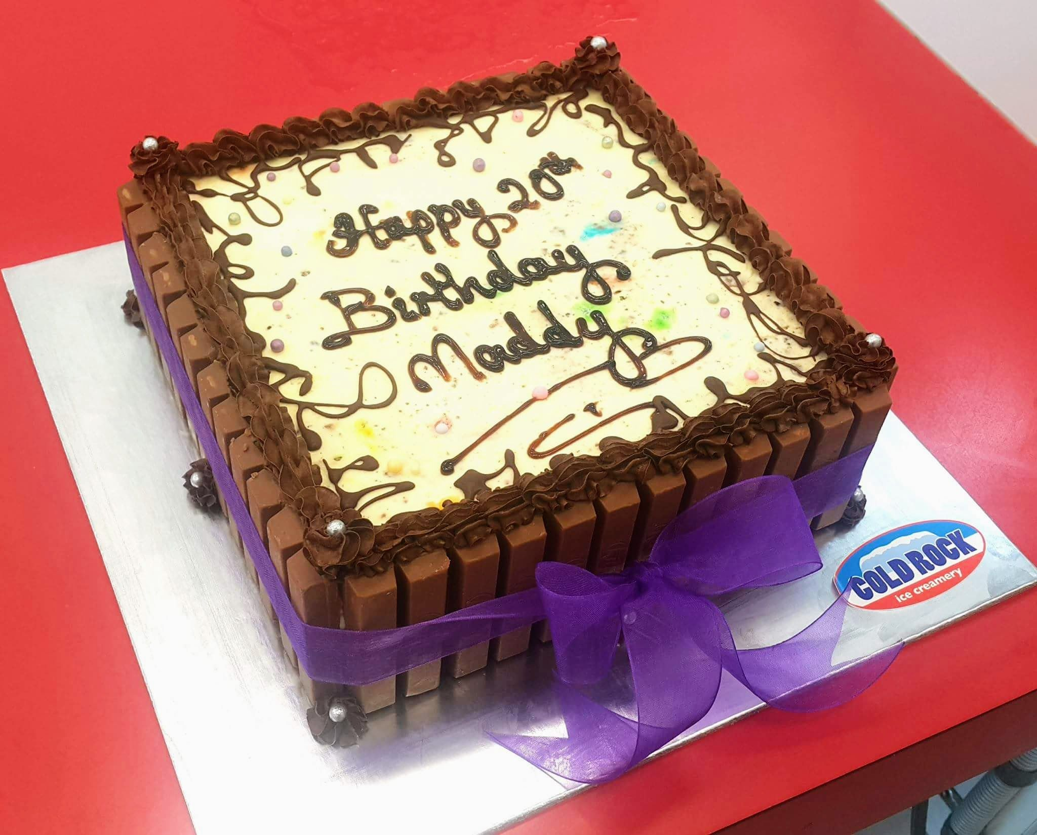 Happy 20th Birthday Maddy From The Staff At Cold Rock Aspley And