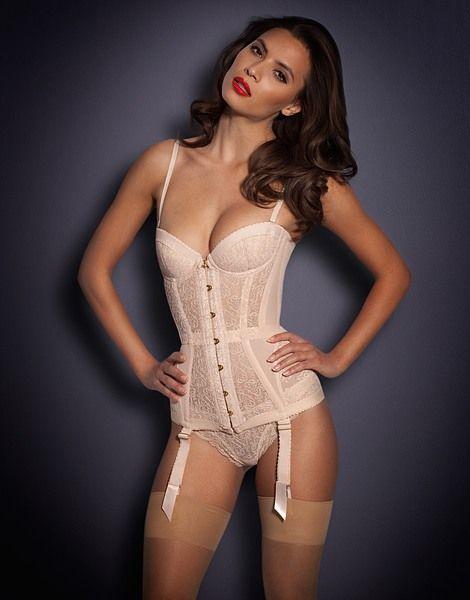 cada32add8f74 AGENT PROVOCATEUR Nude corset found at Nudevotion.com | Lingerie ...