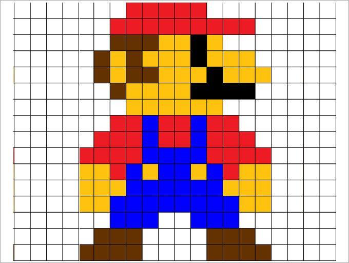 pixel art a photo