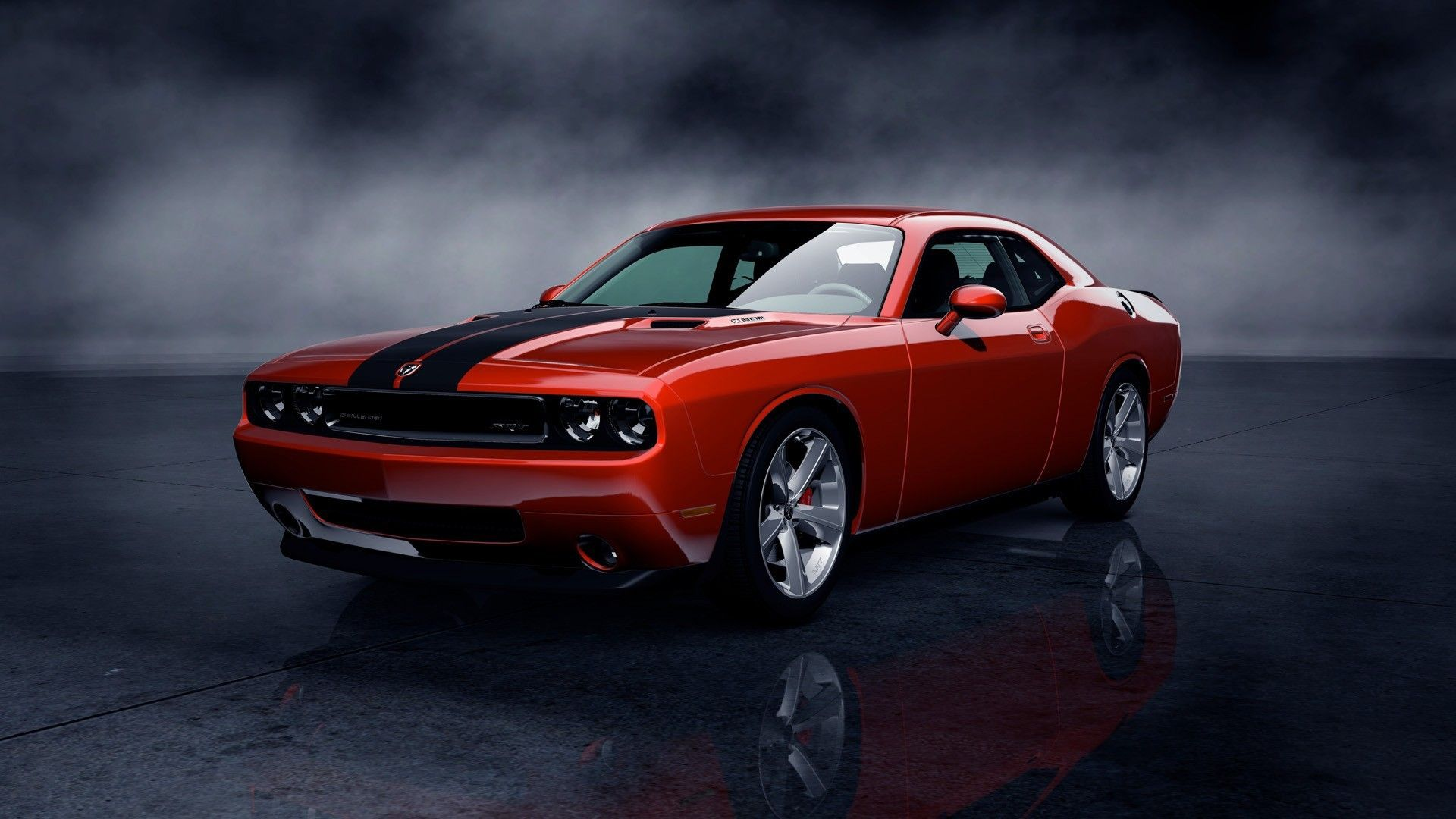 Res 1920x1080, wallpaper Dodge challenger, Challenger srt8