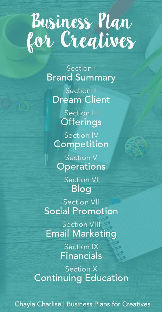 Sections-Business-Plan-for-Creatives Photography Business