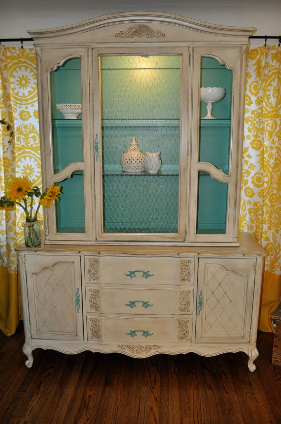 Sample Ideas for Custom Painted Hutches and Consoles via Etsy