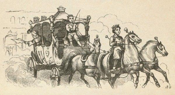 """Illustration af H.C. Andersens eventyr """"Snedronningen"""" (1845) udført af tegneren Vilhelm Pedersen. English: The Snow Queen. By Hans Christian Andersen"""