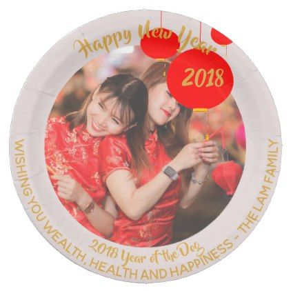 Custom Chinese New Year Paper Plates - ADD PHOTO - occasion gifts gift idea diy  sc 1 st  Pinterest & Custom Chinese New Year Paper Plates - ADD PHOTO - occasion gifts ...